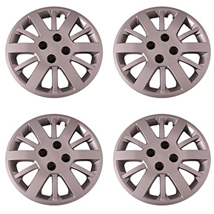 Amazon.com: Set of 4 Silver 15 Inch Aftermarket Replacement Hubcaps with Bolt On Retention System - Part Number: IWC453/15S: Automotive