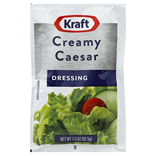 Kraft Signature Creamy Caesar Salad Dressing Single Serve Packet, 1.5 oz. (Single serve salad dressings) Pack of 60