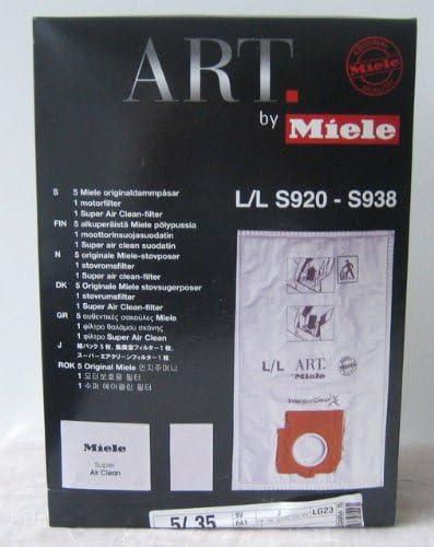 5 bolsas para aspiradoras Miele L/L Original T-Nr. 5852650: Amazon ...