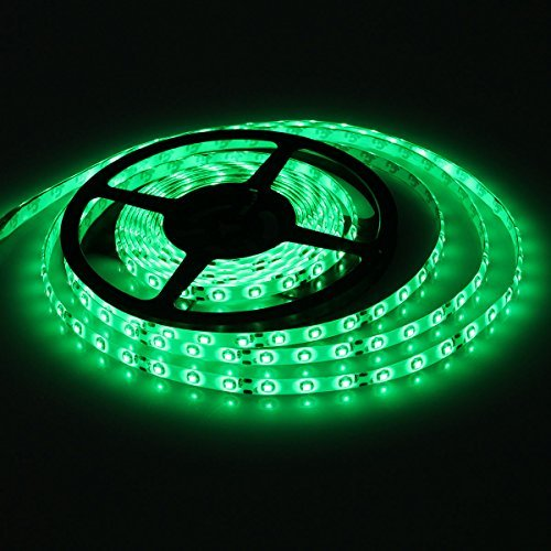 XKTTSUEERCRR Waterproof Green LED 3528 SMD 300LED 5M Light Flexible Strip 12V 2A 24W 60LED/M