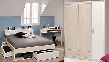 Expendio Jugendzimmer Morris 73 Akazie Bett 140x200 Kleiderschrank