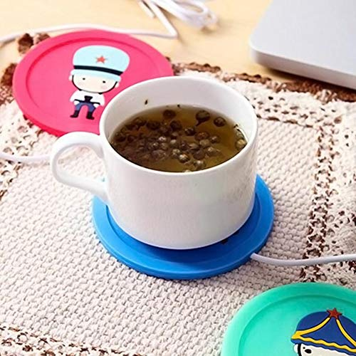 Togethluer USB Silicone Heat Warmer Heater,Milk Tea Coffee Mug Hot Drinks Beverage Cup Mat Red by Togethluer (Image #7)