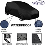 Fabtec Original Waterproof Car Body Cover With Full Bottom Elastic, Heavy Buckle & Triple Stiched For New Fiat Punto