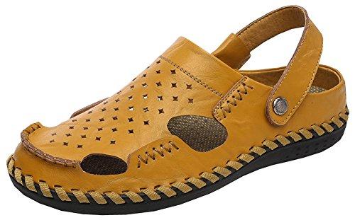 Vocni Heren Fashion Casual Outdoor Zomerschoenen Sandalen Geel