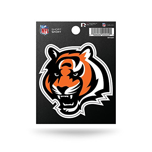 Rico Industries NFL Cincinnati Bengals Die Cut Team Logo Short Sport Sticker -