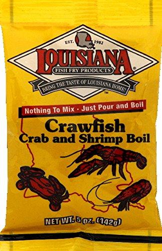 Louisiana Fish Fry Products-Crawfish, Crab & Shrimp Boil - 5oz Packages - New Orleans Shrimp Boil