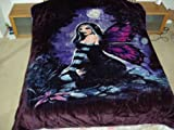 Fairy in the Forest, Mink Style Queen Size Soft & Warm Blanket