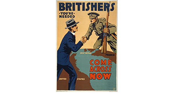 W42 Vintage WWI Britishers Your Needed Britain War Poster WW1 A1//A2//A3//A4