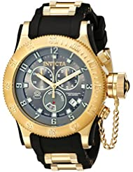 Invicta Mens 15564 Russian Diver Analog-Display Swiss Quartz Black Watch