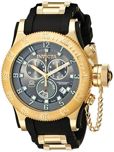 Invicta Men's 15564 Russian Diver Analog-Display Swiss Quartz Black Watch ()