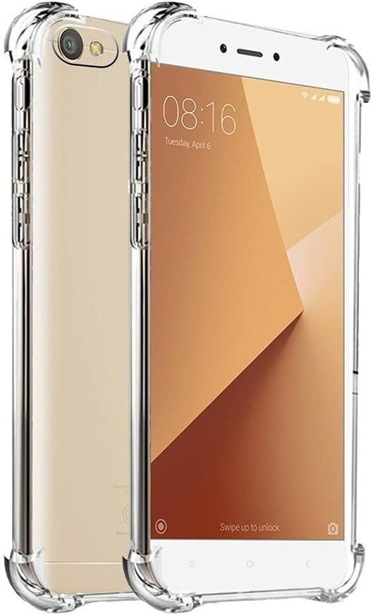 Funda Anti-Shock Gel Transparente para XIAOMI REDMI Note 5A Prime, Ultra Fina 0,33mm, Esquinas Reforzadas, Silicona TPU de Alta Resistencia y Flexibilidad