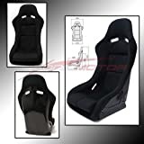Sonic Motor VS3 Full Bucket Racing Seat Black