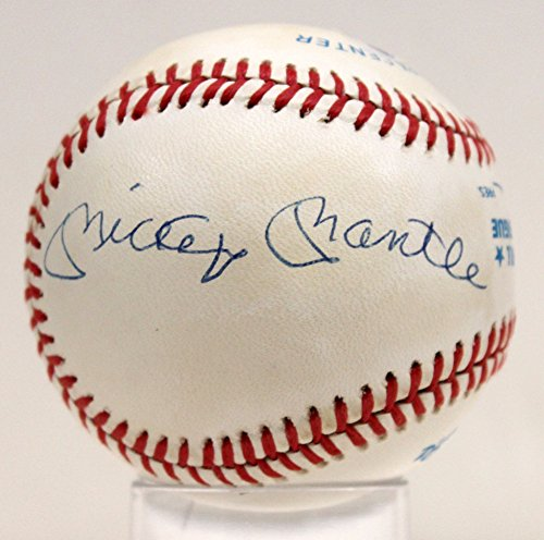 Autographed Mickey Mantle Joe Dimaggio Ted Williams Signed Baseball - PSA/DNA Certified