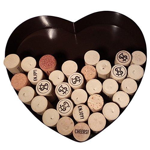 Metal Heart Shaped Wine Cork Holder