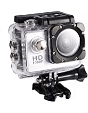 Action Camera 12MP Waterproof 30m Outdoor Sports Video DV Camera 1080P Full HD LCD Mini Camcorder with 900mAh Rechargeable Batteries and Mounting Accessories Kits(Silver)