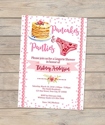 pancakes and panties lingerie shower invitations pancakes panties bridal shower invitations lingerie bridal
