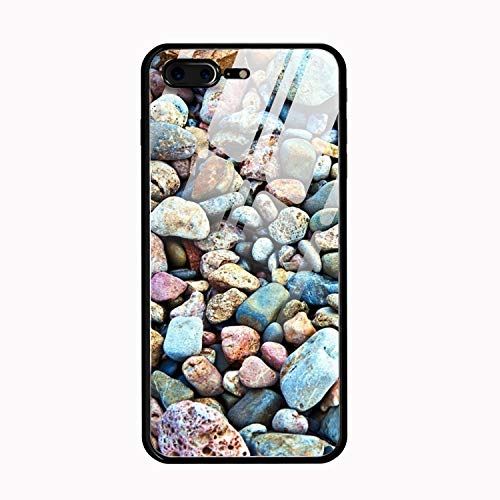 Pebbles Stone Personalized Case for iPhone 7/8 Plus, Shock Absorbing Protective Bumper Case, Birthday