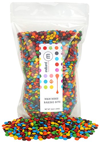 Mini Ice Cream (M&M Minis Baking Bites 3 Lb.- Bulk Milk Chocolate - Resealable Pouch)