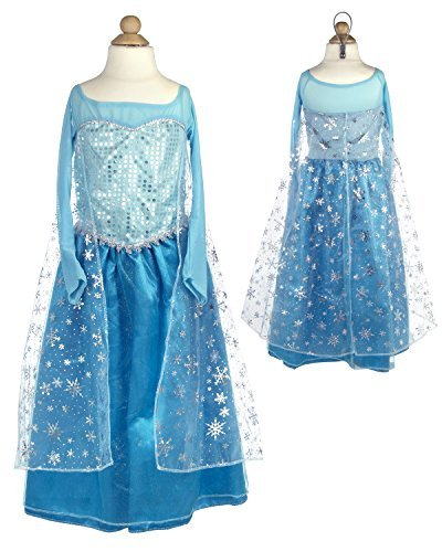 Powerpuff Girl Costume Makeup (My Princess Academy Girls Elegant Elsa Costume Ice Blue Small)