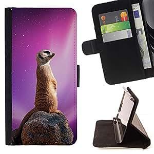Momo Phone Case / Flip Funda de Cuero Case Cover - Espacio Galaxy Meerkat;;;;;;;; - Samsung Galaxy Core Prime