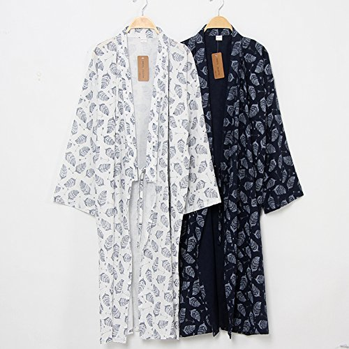 Kimono Hommes Pyjamas Robes Yukata Blanc Khan Steamed Des Vêtements Robe v8wPNnOym0