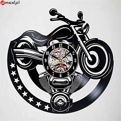 Kamas Home Living Modern Design Super Motor 12 inch Vinyl Wall Clock Motorcycle Sticker Decorative Relojes De Pared Casa - (Color: 3) - - Amazon.com