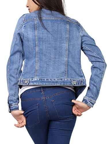 Stretch XL Denim S en et 1 en Femme Jeans Veste Blouson Jeans Femme Veste au Chemise du qwHv6WU8