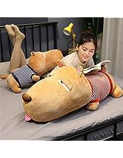 45/65/80/100cm Peeping Dog Sleeping Pillow Long Bar Pillow Large Dog Doll Pillow Single Dog Plush Toy Girl Doll Doll