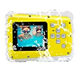 Vmotal Waterproof Digital Camera Camcorder with 4x Digital Zoom 8MP Waterproof Camera for Kids (Yellow)