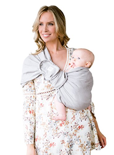 LILLEbaby Ring Sling w/ Removable Pocket - Nimbus Clouds w/ Gold