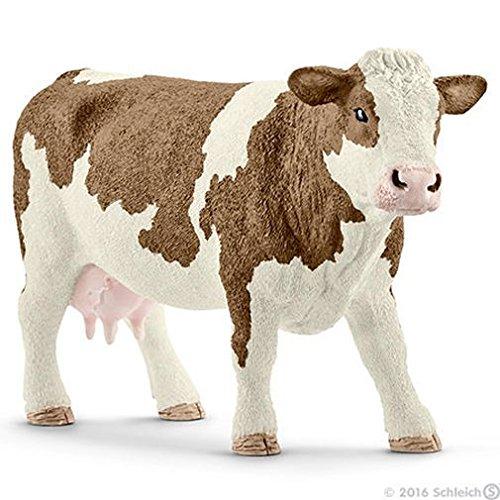 Schleich North America Simmental Cow Toy Figure