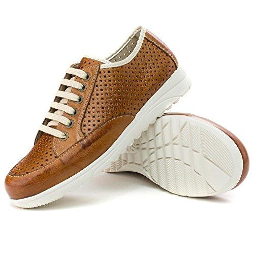 Pour de Cuir à Femme Chaussures Ville PITILLOS Lacets X8xqwSRqp