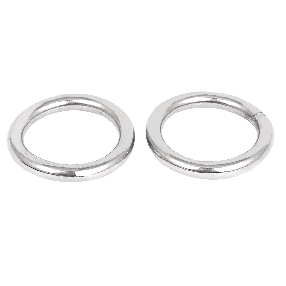 uxcell 60mm x 8mm 304 Stainless Steel Webbing Strapping Welded O Rings 2 Pcs