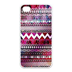 Custom Aztec Tribal Rubber TPU Case For Apple iPhone 4 4S