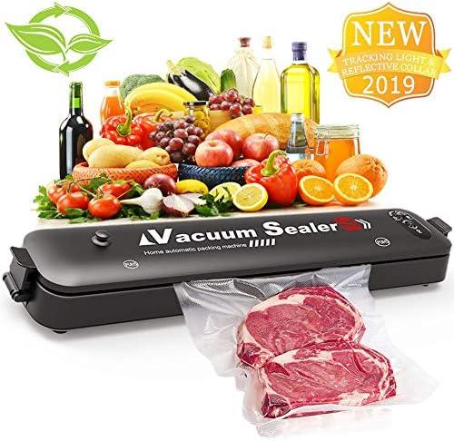 Vacuum Sealer,Automatic Portable Food Sealer Machine for Food Preservation,Compact Design 2 In 1 Modes Led Indicator Lights 15 Sealer Bags