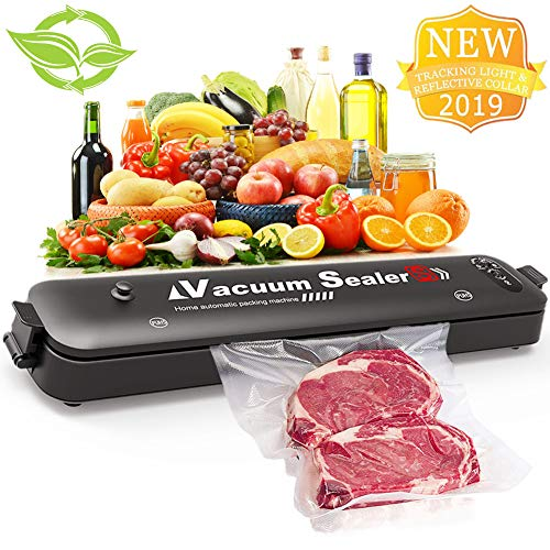 Vacuum Sealer,Automatic Portable Food Sealer Machine for Food Preservation,Compact Design 2 In 1 Modes Led Indicator Lights 15 Sealer Bags