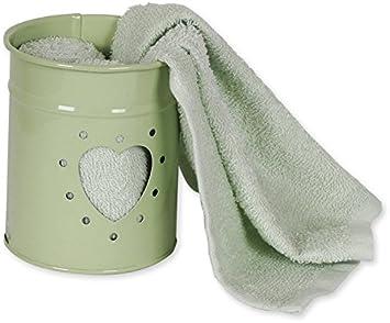 3 toallas invitados 30 x 30 - Maceta corazón, verde pastel, 30 x 30: Amazon.es: Hogar