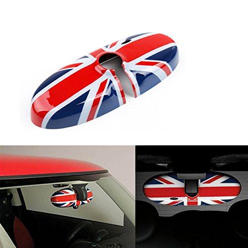 Red Blue Union Jack Uk Flag Rear View Mirror Cover For 2007 2014 Mini Cooper R55 R56 R57 Etc Standard Mirror W O Auto Dim Nor Garage Opener