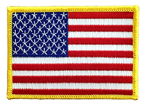 """USA US Embroidered Patch - x 2.5"""" Iron or"""