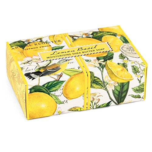 - Michel Design Works 4.5oz Boxed Single Shea Butter Soap, Lemon Basil