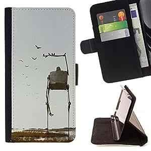 /Skull Market/ - NATURE BIRDS SCI FI ROBOT ART FICTION For Sony Xperia m55w Z3 Compact Mini - Caja de la carpeta del tir???¡¯???€????€??????