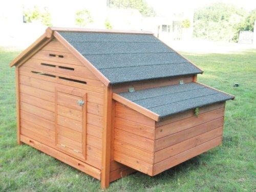Hühnerstall Hühnerhaus Geflügelstall Nr. 05 Henvilla mit ausziehbarer Wanne und Legebox