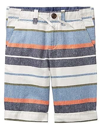 Gymboree Toddler Boys' Bermuda Shorts, Cadet Blue Stripe, 2T