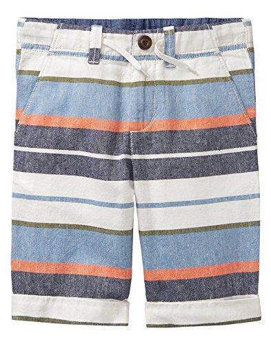 Gymboree Boys' Little Bermuda Shorts, Cadet Blue Stripe, 6 (Stripe Short Waist)
