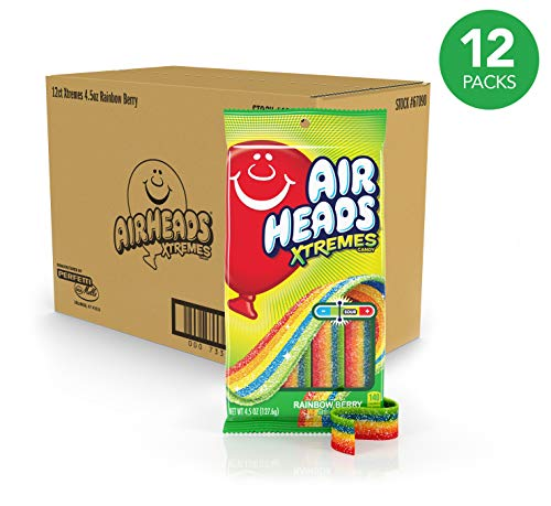 Airheads Xtremes Sweetly Sour Candy Belts, Rainbow Berry,