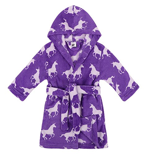 Verabella Girls Robe Plush Super Soft Fleece Hooded Bathrobes ()