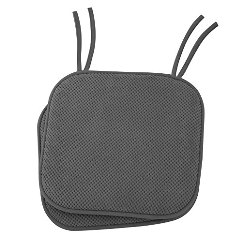 Ellington Home Non Slip Memory Foam Seat Chair Cushion Pads With Ties - 17