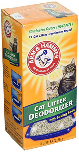 ARM & HAMMER Cat Litter Deodorizer Powder with Baking Soda,