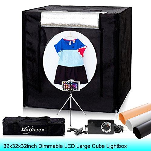 Portable Photo Studio Cube - 5500K Dimmable Large Photo Studio Light Tent 32