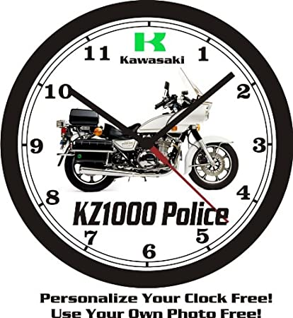 1992 KAWASAKI KZ1000 POLICE WALL CLOCK-FREE USA SHIP!